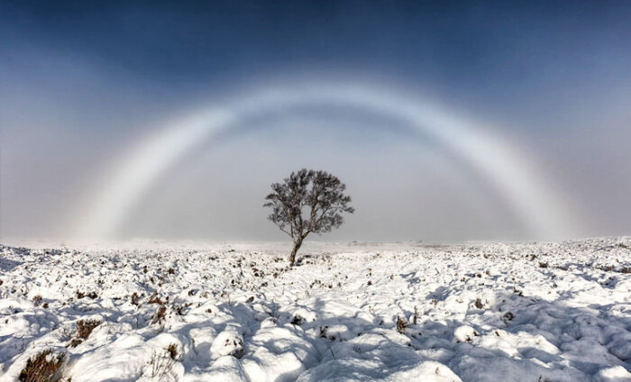 Удивительное рядом! Белая радуга в Шотландии