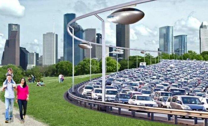 Tulevikutransport on selline: Tel Aviv saab peagi tänavate kohal rippuvad kapslid