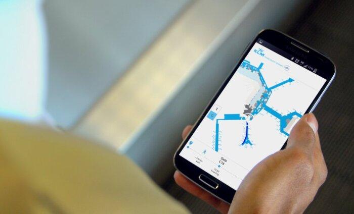 KLM pakub reisijatele lennujaama terminalides navigeerimise mobiilirakendust