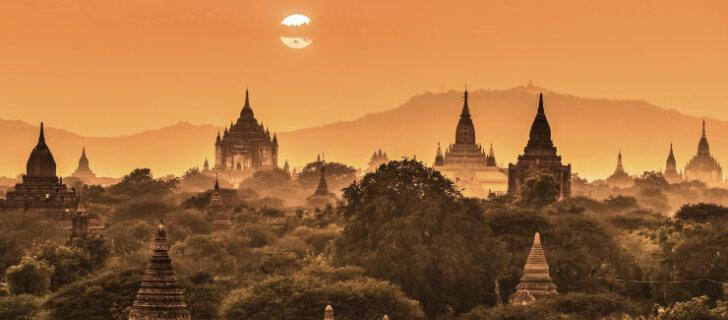 В Мьянме исламисты сожгли буддийский храм