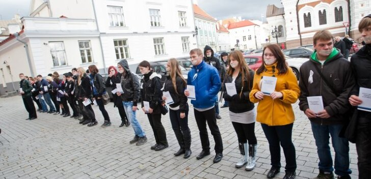 Protest eesti õppekeele vastu vene koolides