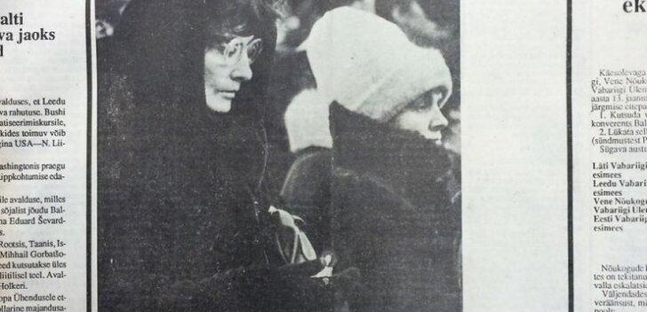 Päevaleht, 15 jaanuar 1991. Leedu matab ja mälestab teletorni kaitsmisel hukkunuid.