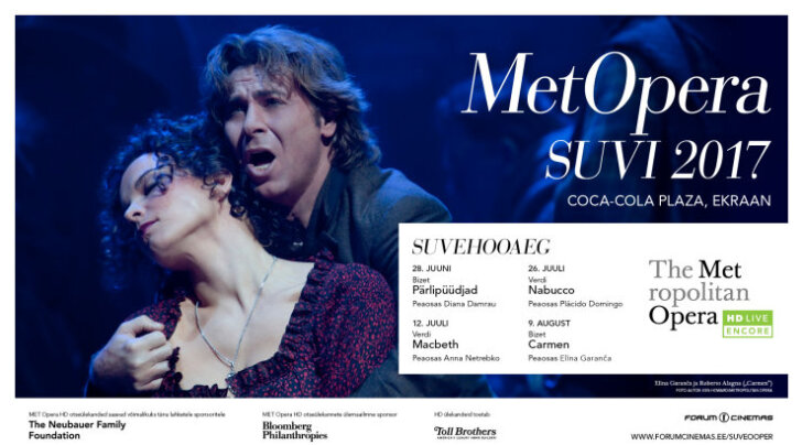 Metropolitan Opera suvehooaeg Forum Cinemas kinodes