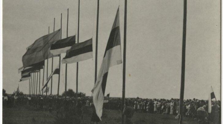 Eesti Skautide Suurlaager - lippude heiskamine