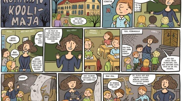 Koomiks: Kummitav koolimaja
