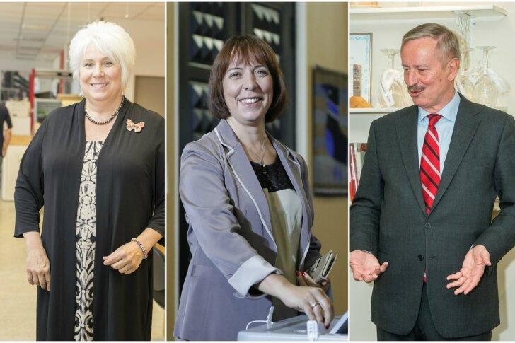 Tänaste presidendivalimiste kindel esikolmik: Siim Kallas, Marina Kaljurand ja Mailis Reps