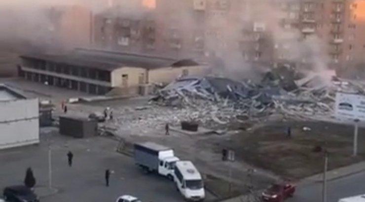 Venemaal Vladikavkazis hävitas gaasiplahvatus täielikult kaubanduskeskuse. Hoones olnud valvur pääses ehmatusega