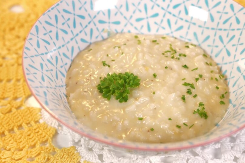 Cheddariga risotto