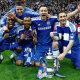 Ashley Cole, John Terry (keskel) ja Frank Lampard  2012. aastal FA Cupi võitjatena