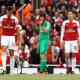 Arsenali jalgpallurid Mesut Özil, Petr Cech ja Granit Xhaka