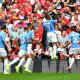 Manchester City mängijad juubeldavad