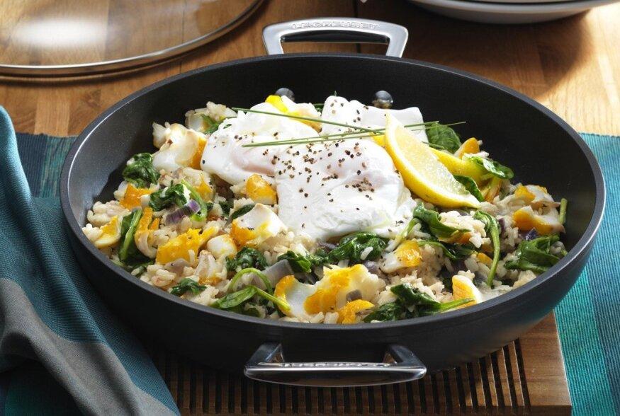 KIIRE HOMMIKUSÖÖGI SOOVITUS: Ahjus valmistatud munad ja tursk
