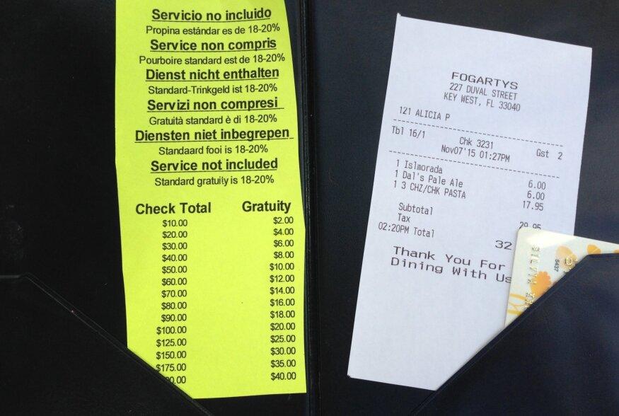 Jootrahapoliitika kui väljapressimine: USA restoranides tuuakse arvega jootraha andmiseks spikker