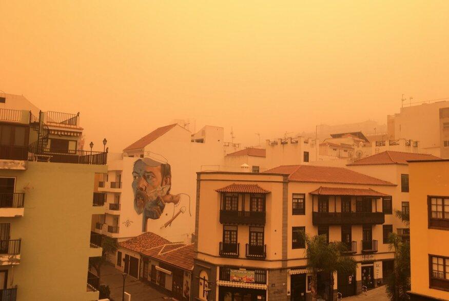 Liivatorm on Tenerife kui Marsiks muutnud.