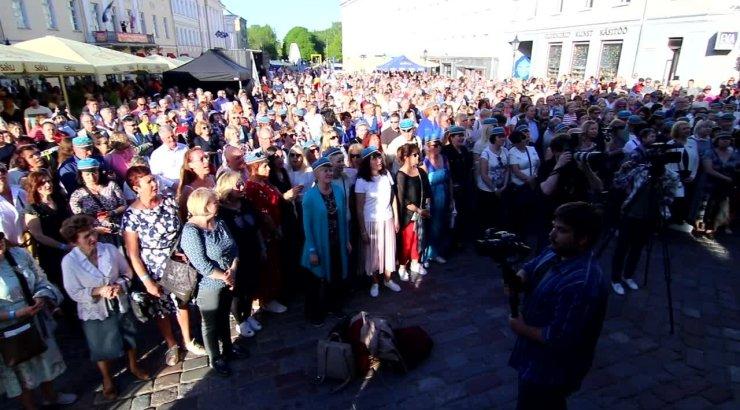 ВИДЕО: Такого еще не было! В Тарту состоялась самая масштабная в истории встреча выпускников ТУ
