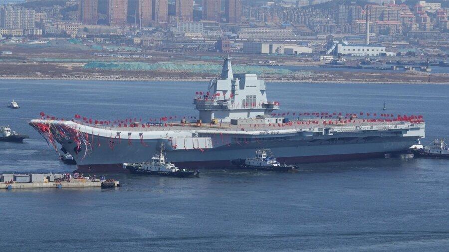 Пополнение встрою: 2-ой авианосец ВМС Китайская народная республика спущен наводу
