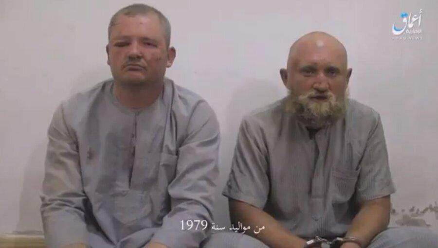 Исламские террористы изэкстремистской группировки записали видео сзахваченными вплен военнослужащими авиабазы Хмеймим