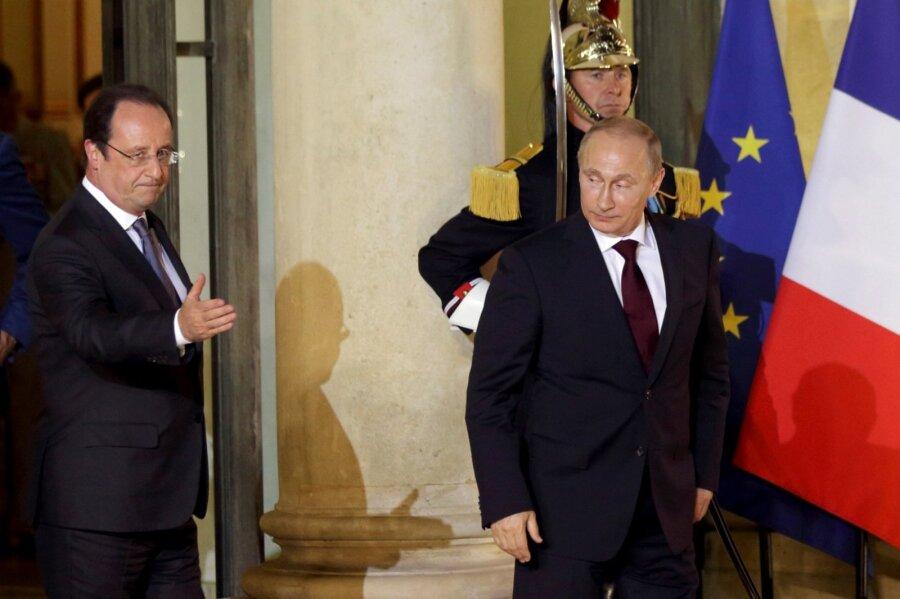 Встреча Олланда и Владимира Путина встолице франции несостоится