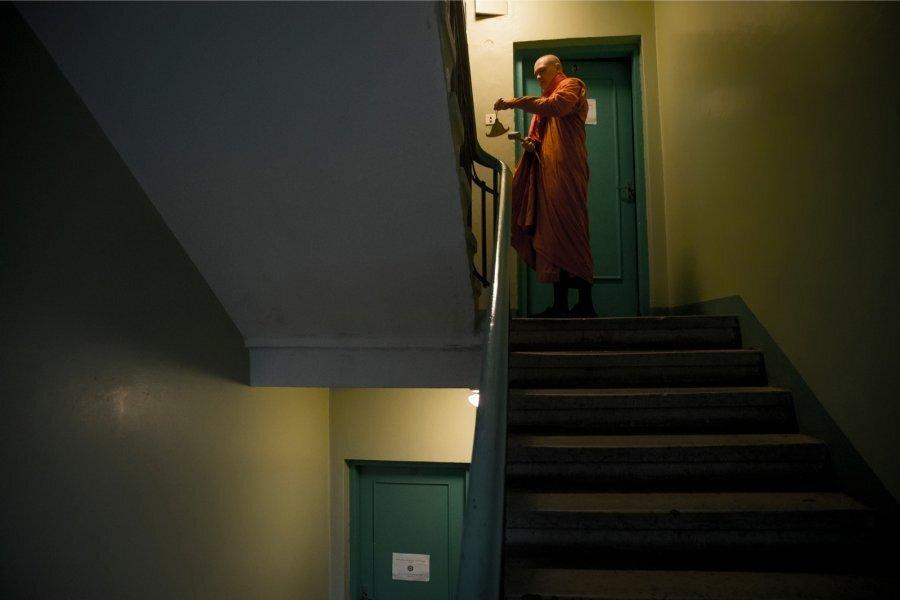 Buddha mungalaager Aegna mõtluskeskuses
