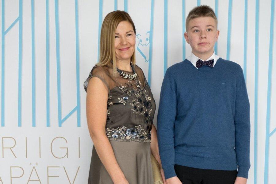 Riigikogu liige Barbi Pilvre ja poeg Holger-Helmut Pilvre