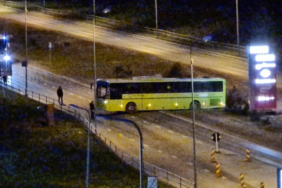 ФОТО И ВИДЕО   Съехавший в кювет рейсовый автобус перекрыл движение на Лаагна теэ