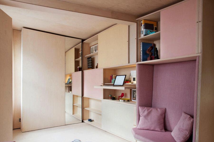 7feb7a3c7bf Rõõmsalt pastelsetes toonides elamine 13 ruutmeetril - Moodne Kodu