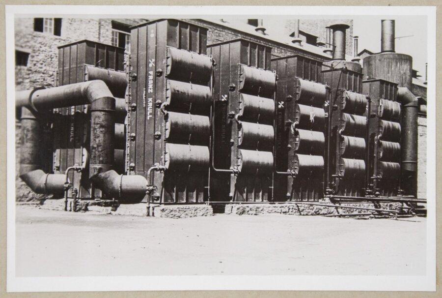 """Jahutusseadmed III põlevkivitööstuses<span class=""""right"""">Foto: Eesti Ajaloomuuseum</span>"""