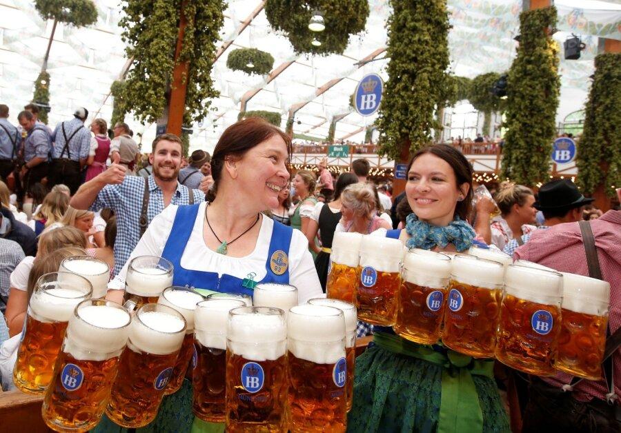 ВМюнхене стартовал фестиваль пива «Октоберфест»
