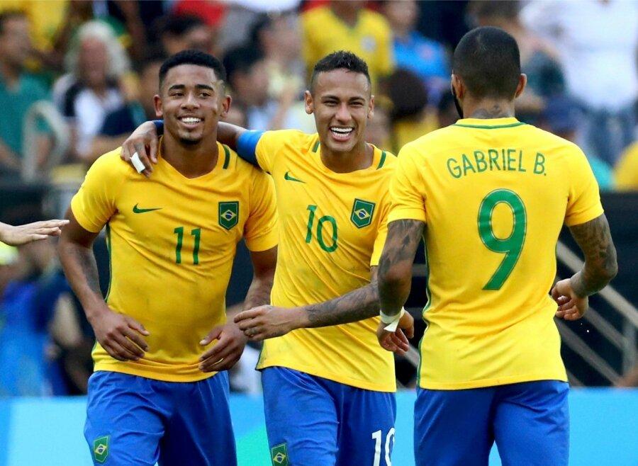 Вфинале олимпийского футбольного турнира вРио сыграют Бразилия иГермания