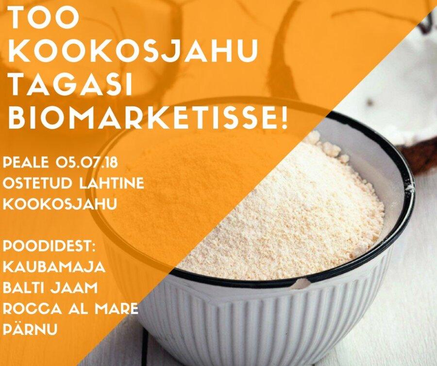 44452a82f7a Kookosjahu KookosjahuBiomarketi Facebook. Biomarketi müüdud lahtises  kookosjahus võib olla ...