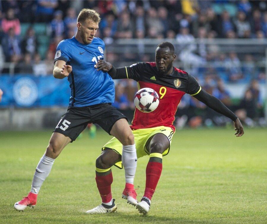 bddec502f35 Eesti jalgpallikoondise kapten Ragnar Klavan kohtumises Belgia vastu.