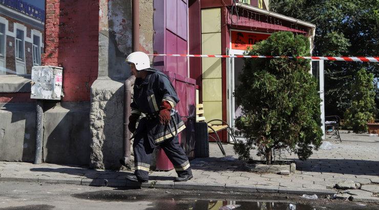 Odessas lahvatas põlema suur hotell, hukkus mitu inimest