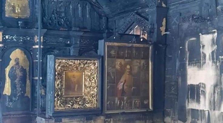 Narva-Jõesuus tuleroaks langenud kirikus hävinesid ajaloolised ikoonid