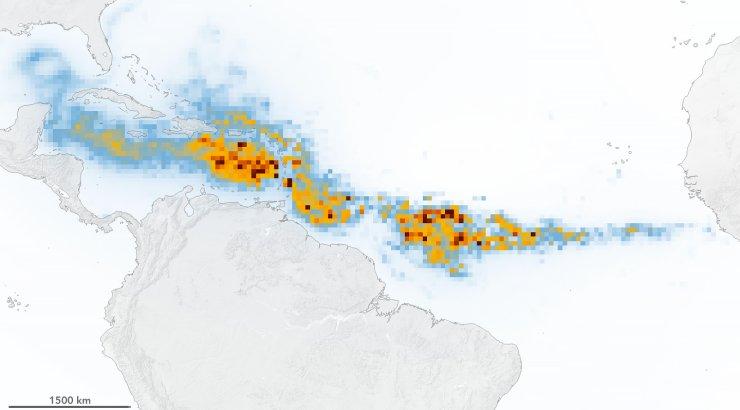 Satelliidid püüdsid pildile maailma suurima vetikaõitsengu