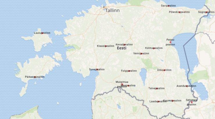 KAART | Eestil on vähemalt 20 erinevat pealinna