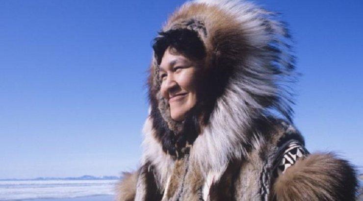 Stock photo: woman eskimo isolated on white