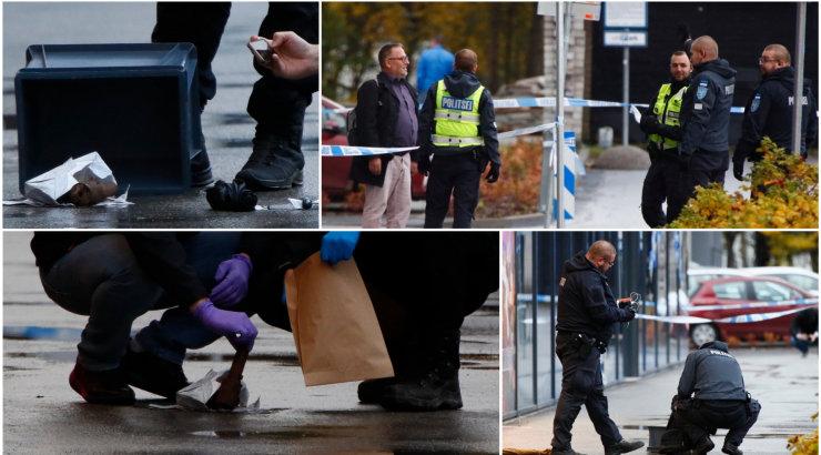 FOTOD | Mustamäe keskuse ees peeti kinni lõhkekeha vedanud mees
