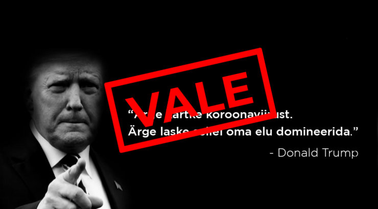 Eesti vandenõulased jagavad aktiivselt Trumpi vale-säutsu