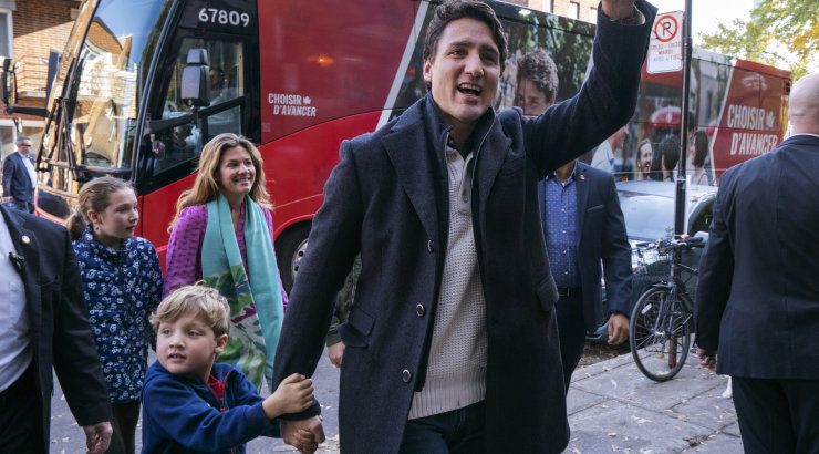 Liberaalne peaminister Justin Trudeau võitis Kanada valimised