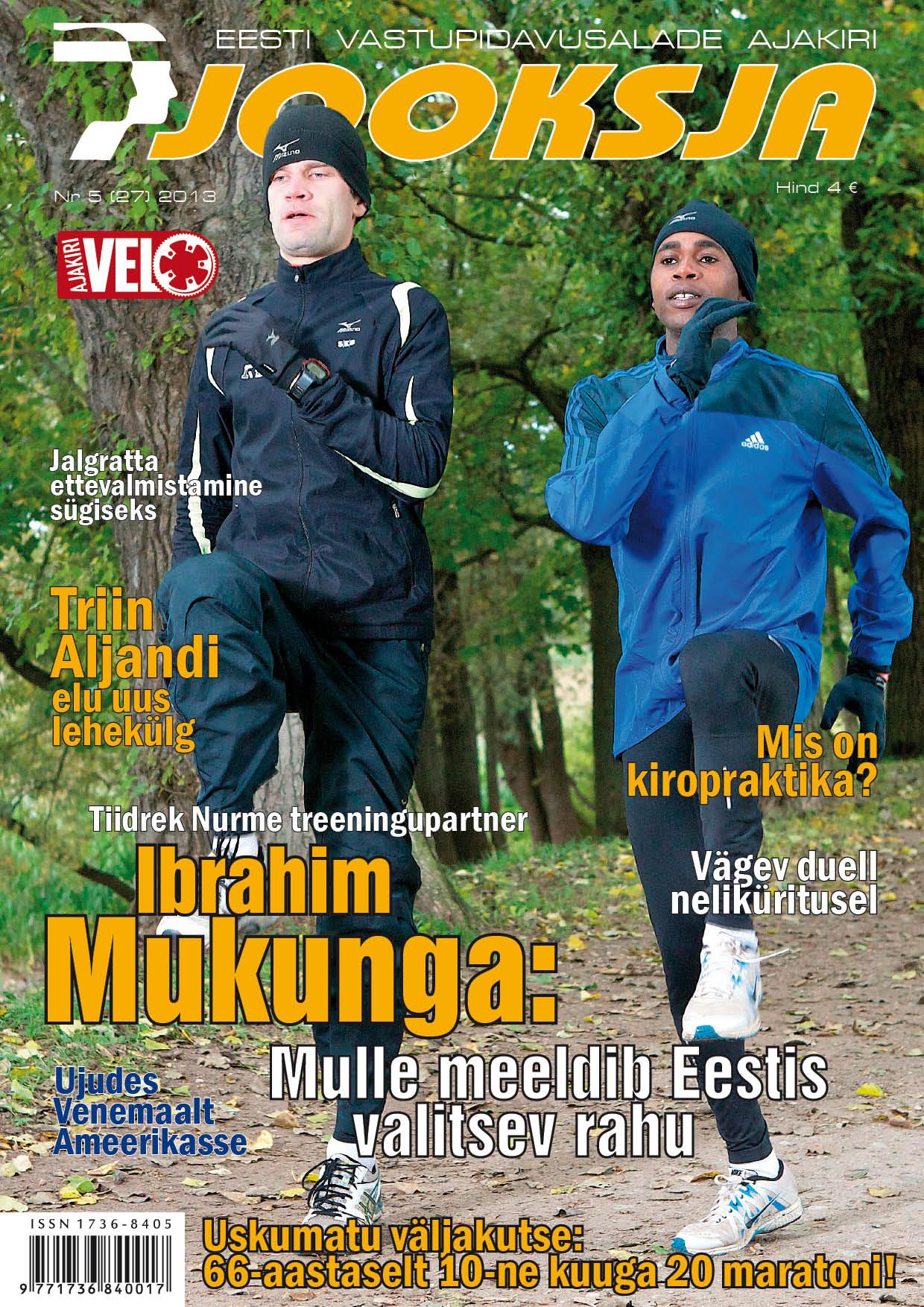 Ajakirja Jooksja oktoober 2014 esikaas