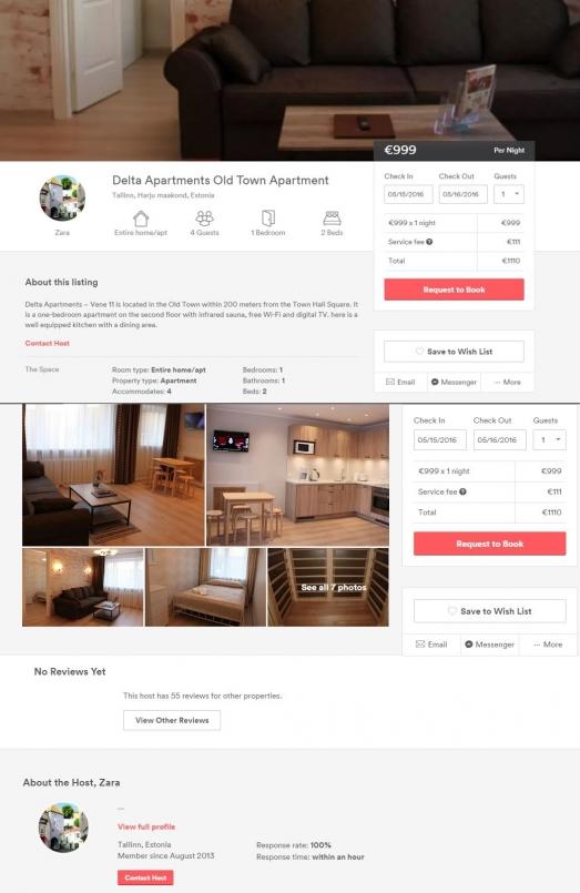 Kuvatõmmis: Airbnb