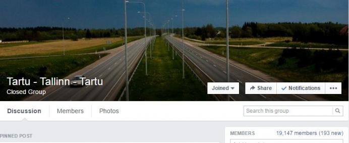 Kuvatõmmis Facebook'ist