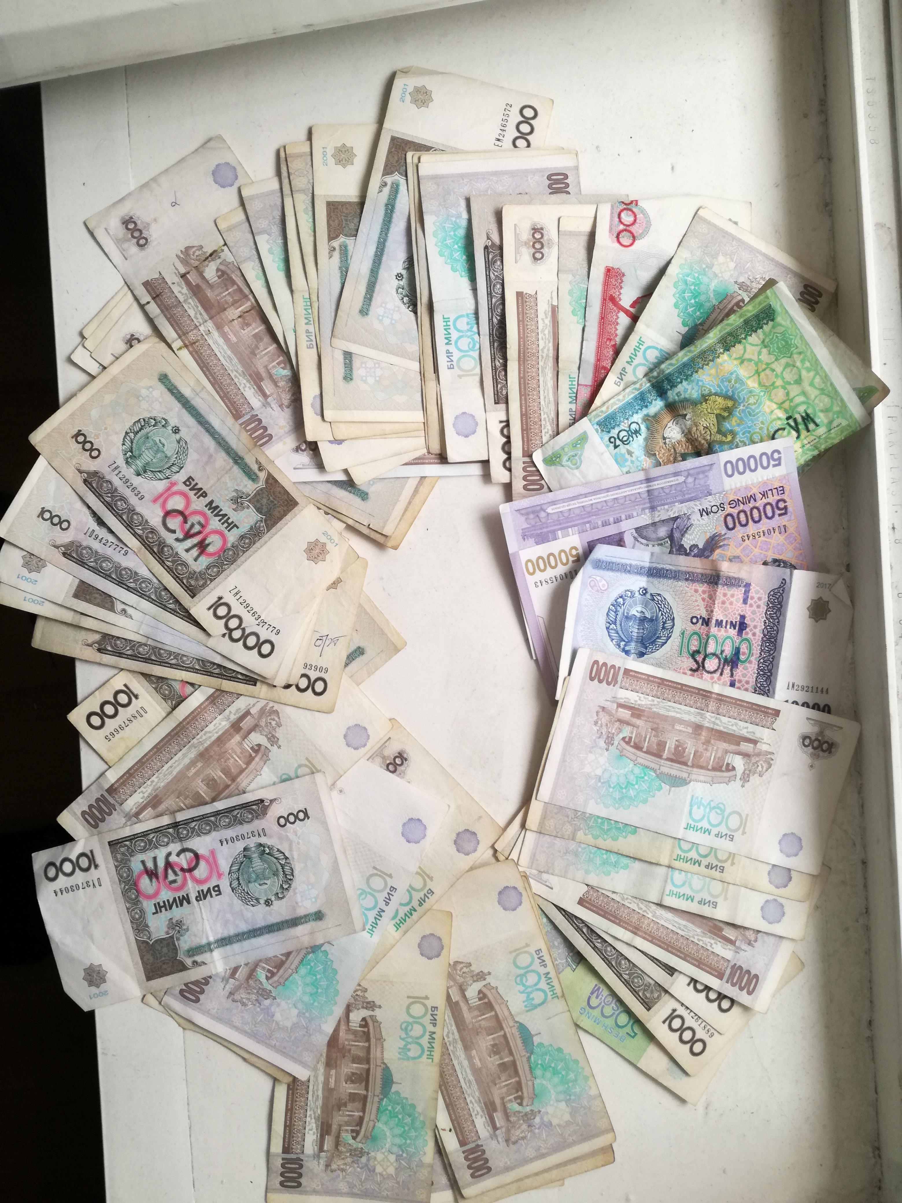 Tundub nagu oleks rikas? Tegelikult on pildil umbes 15 eurot usbekistani rahas.
