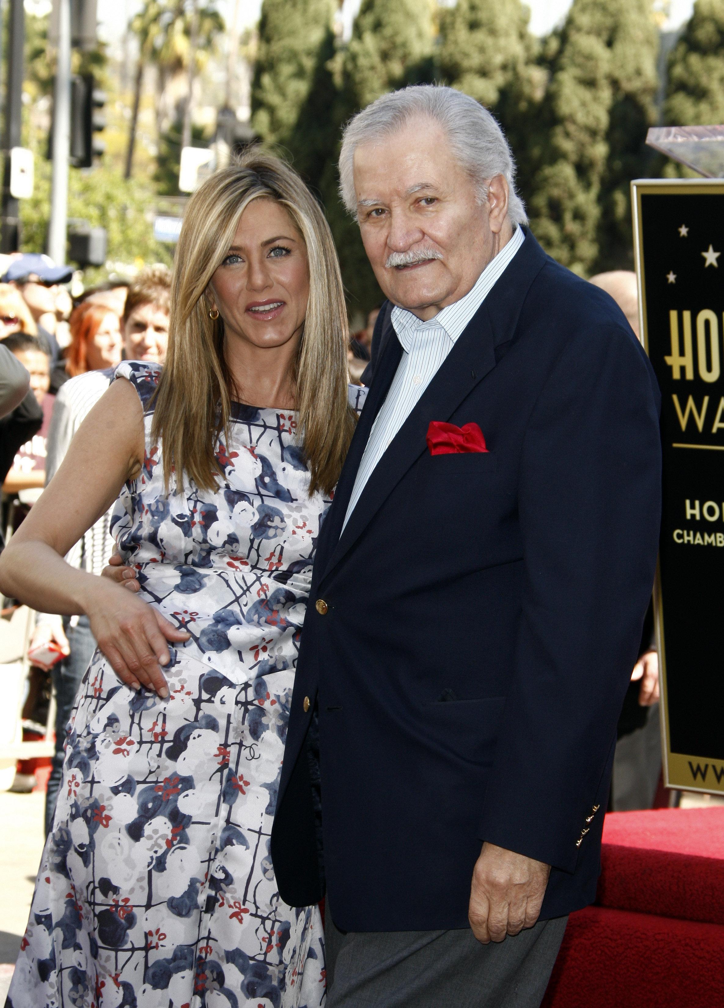 Jennifer and John Aniston