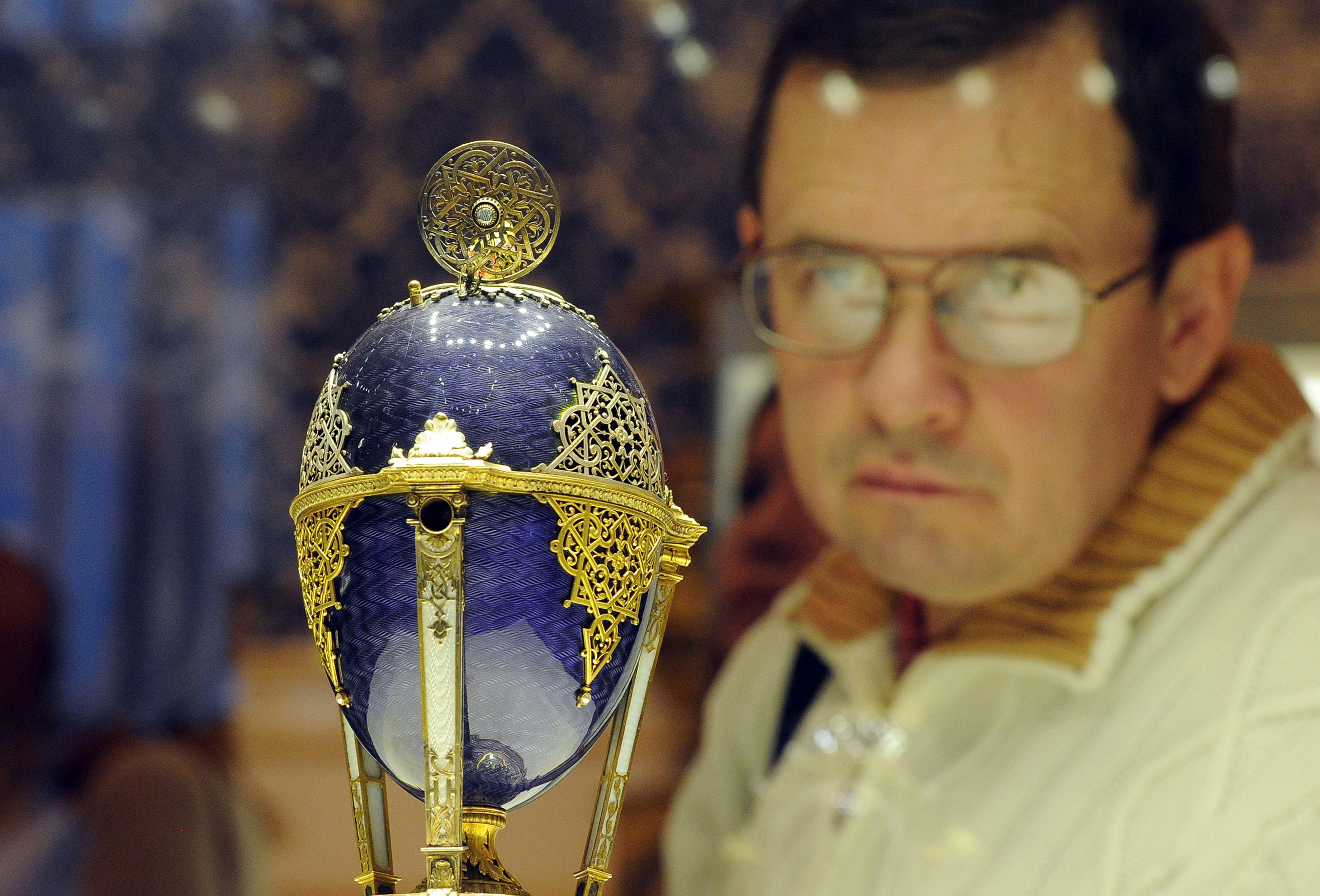 Üks Fabergé muuseumis olev lihavõttemuna