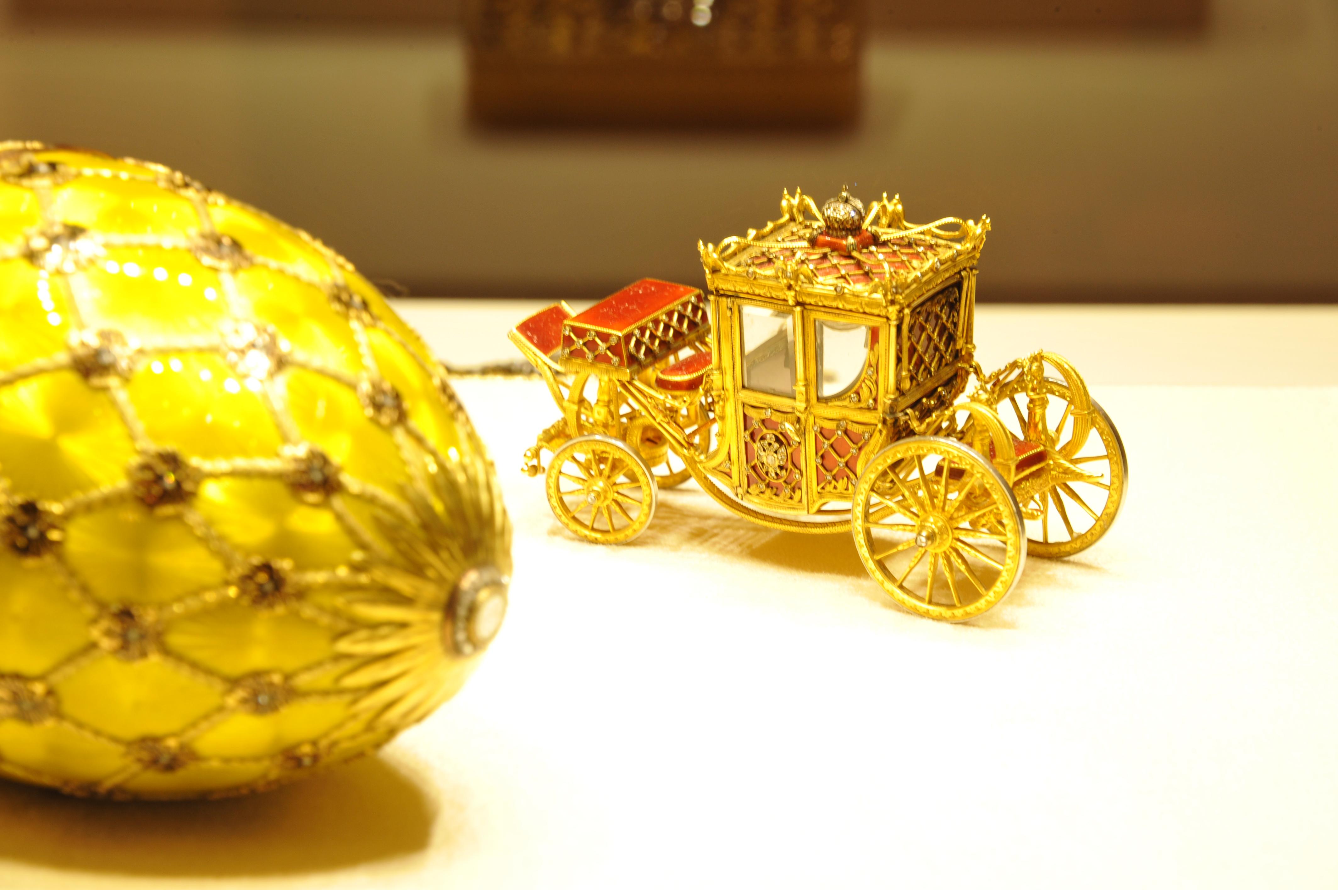 Fabergé muuseumis välja pandud esemed