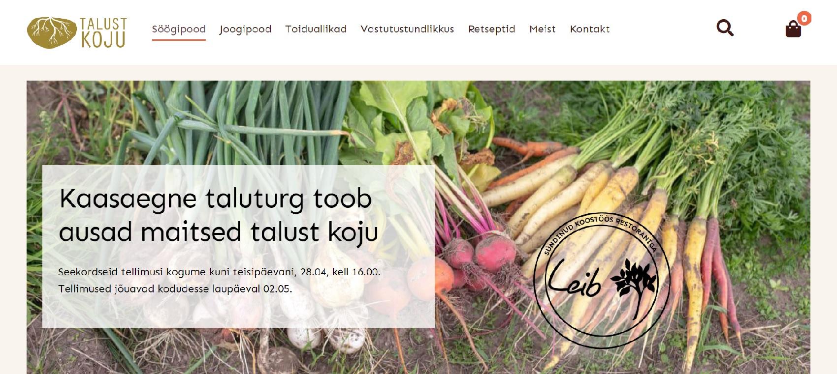 Talust Koju veebipood
