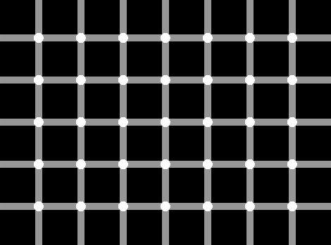 Kohutavalt segadusseajav: mitu musta täppi on pildil?