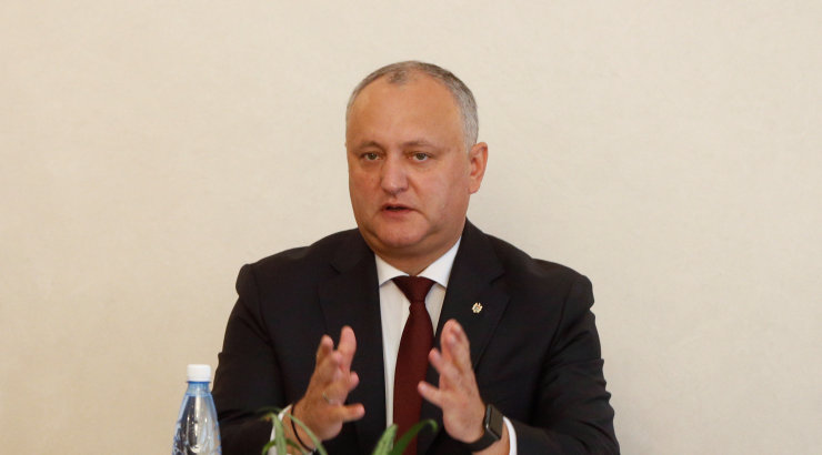 Moldova president Dodon teatas, et tühistas parlamendi laialisaatmise