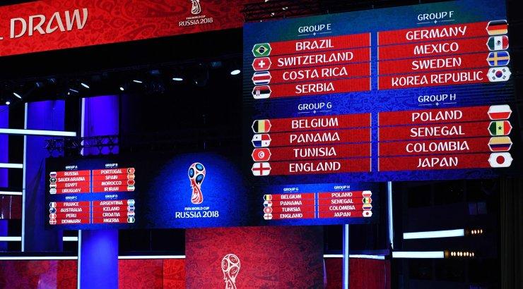 7db2a6e6a5f FOTOD JA BLOGI | Jalgpalli MM-i loos viis ühte alagruppi Hispaania ja  Portugali ning Belgia ja Inglismaa - Sport